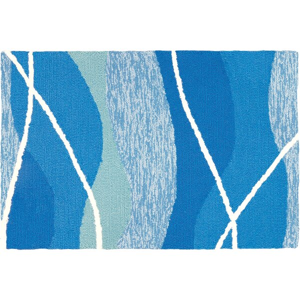 Quoc Tranquility Hand-Woven Blue Indoor/Outdoor Area Rug by Highland Dunes