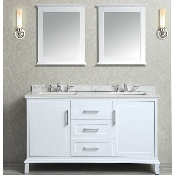 Denice 60 Double Bathroom Vanity Set with Mirror by Latitude Run