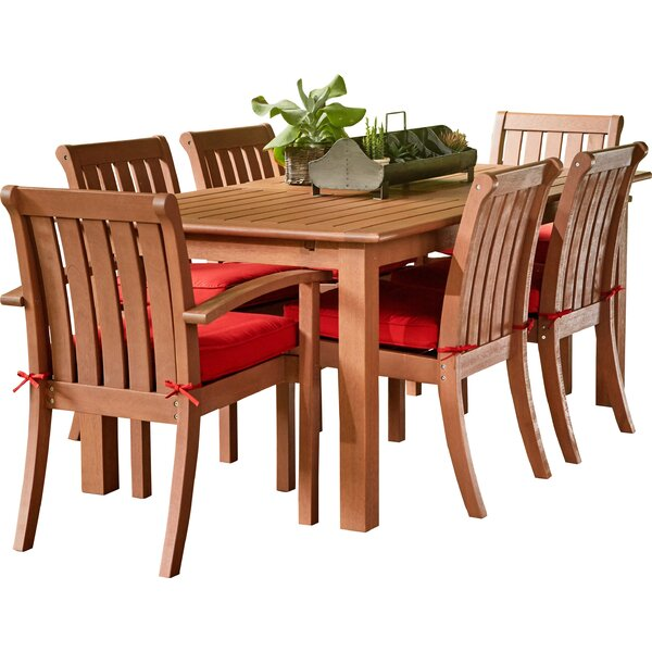 "Rossi 7 Piece Dining Set with Cushions by Birch Laneâ""¢ Heritage"