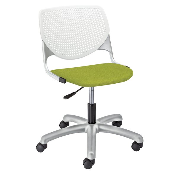 Eiland Poly Desk Chair with Perforated Back by Latitude Run