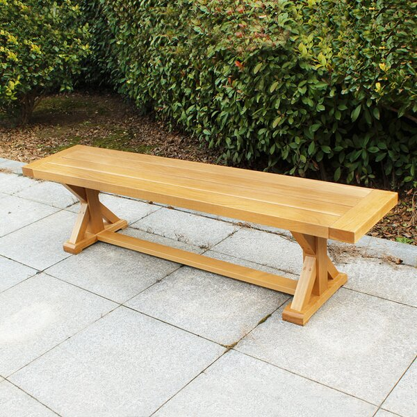 Rumfelt Outdoor Wooden Picnic Bench by Millwood Pines Millwood Pines