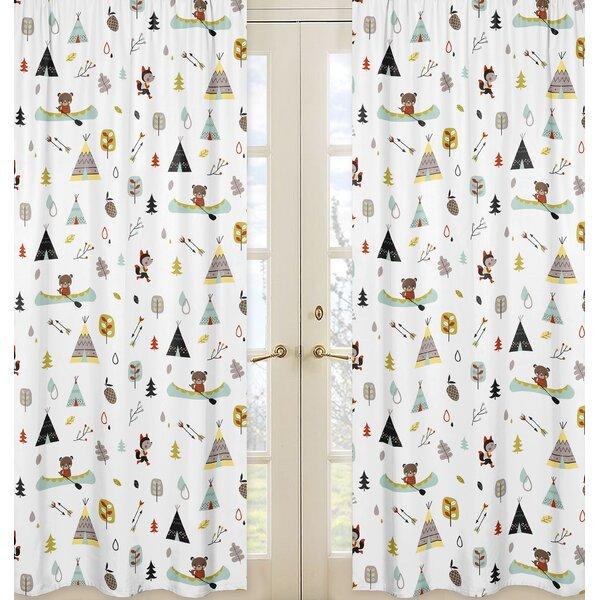 Outdoor Adventure Semi-Sheer Rod Pocket Curtain Panels (Set of 2) by Sweet Jojo Designs