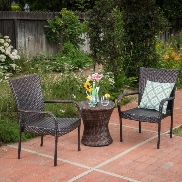 Preston 3 Piece Rattan Seating Group by Ebern Designs