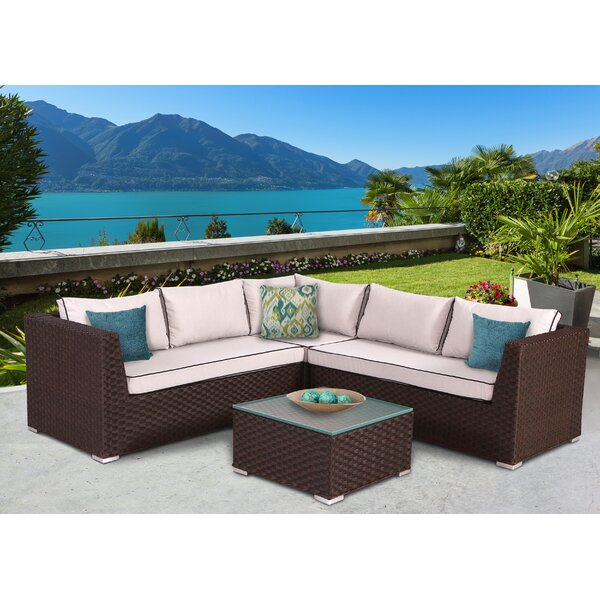 Mesquite 4 Piece Sectional Set with Cushions by Bay Isle Home