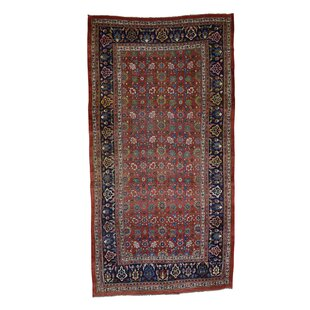 One-of-a-Kind Fossen Persian Bidjar Exc Cond Hand-Knotted Red Area Rug