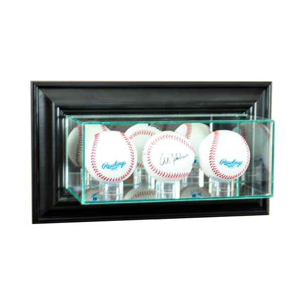 Wall Mounted Triple Baseball Display Case by Perfect Cases and Frames