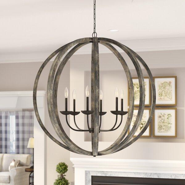 Flavien 6 - Light Unique / Statement Globe Chandelier By Laurel Foundry Modern Farmhouse