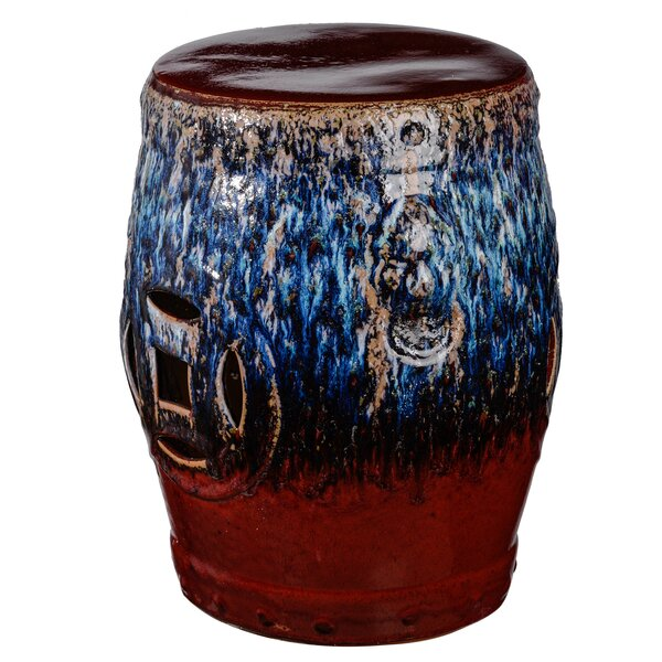 Cates Ceramic Garden Stool by World Menagerie