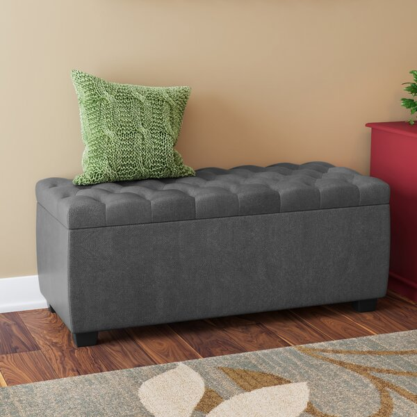 Virgil Upholstered Storage Bench by Three Posts