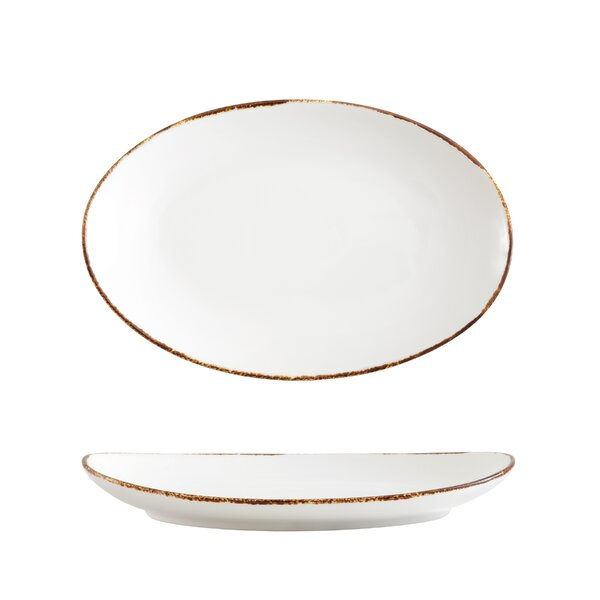 Spice Salt Oval Coupe Platter (Set of 4) by Fortessa