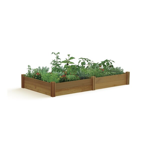 Modular 8 ft x 4 ft Cedar Raised Garden by Gronomics