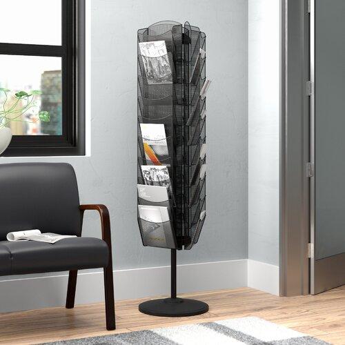 Drehbarer Zeitschriftenständer ClearAmbient | Dekoration > Aufbewahrung und Ordnung > Zeitungsständer | ClearAmbient