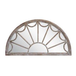 Veiga Half Circle Wood Wall Mounted Mirror