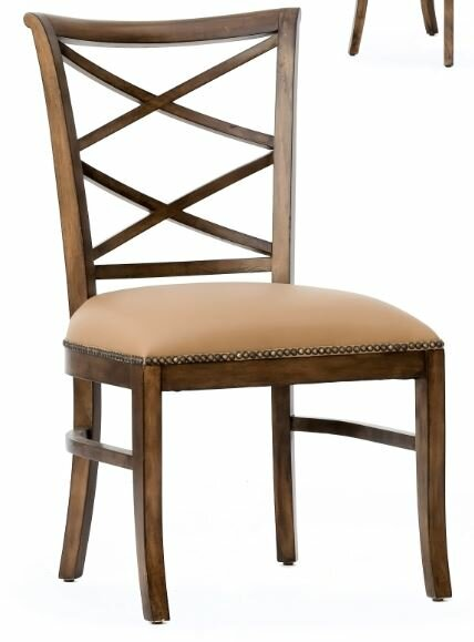 Manhattan Loft Remo Genuine Leather Upholstered Dining Chair (Set of 2) by Rossetti Design Studio