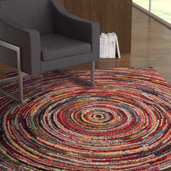 Miley Misc Red Area Rug by Latitude Run
