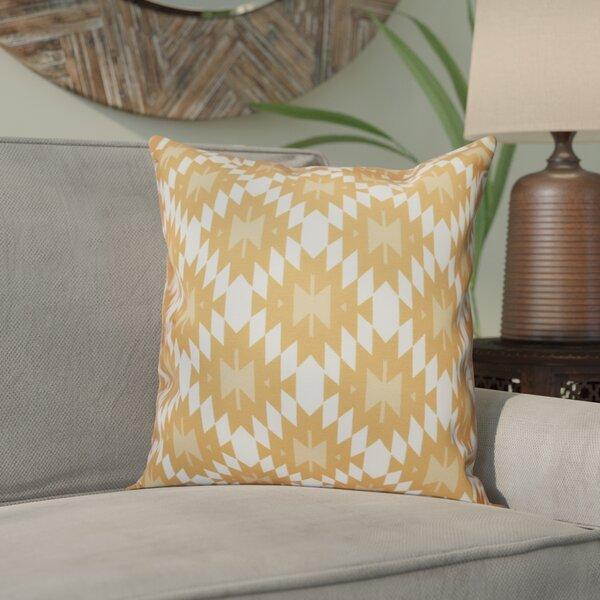 Willa Jodhpur Kilim Geometric Outdoor Throw Pillow by Bungalow Rose