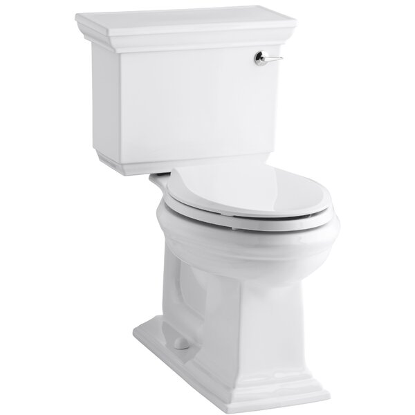 Memoirs Stately Comfort Height Two-Piece Elongated 1.28 GPF Toilet with Aquapiston Flush Technology and Right-Hand Trip Lever by Kohler