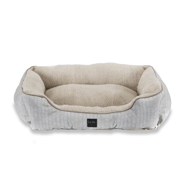 Modern Striped Bolster Dog Bed by Nicole Miller