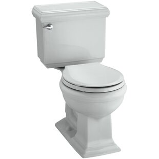 Memoirs Impressions Classic Comfort Height Two-Piece Round-Front 1.28 GPF Toilet with Aquapiston Flush Technology and Left-Hand Trip Lever ByKohler