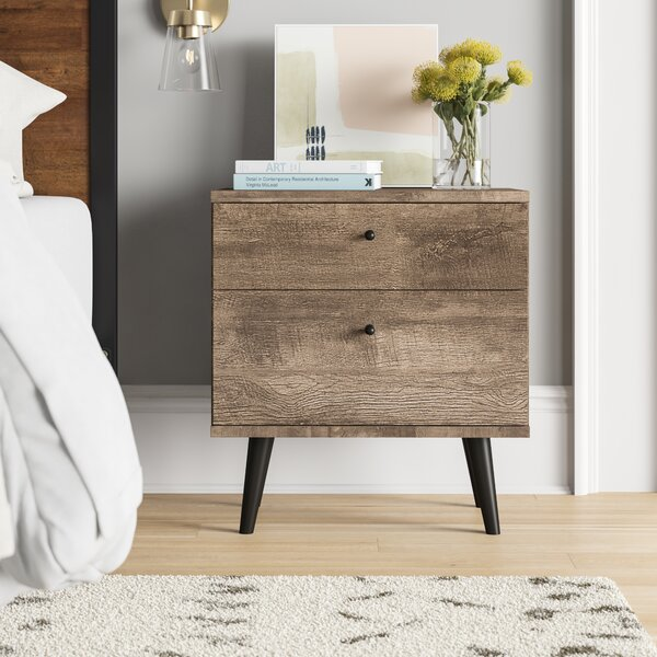 Noah 2 Drawer Nightstand by Foundstone