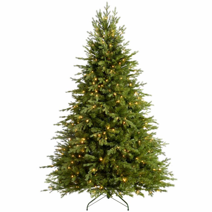 7 Ft Christmas Tree Prelit.Pre Lit Grand Alaskan Multi Function 7ft Green Fir Artificial Christmas Tree With 500 Warm White Lights