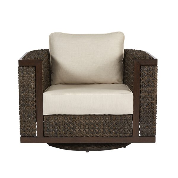 Asphodèle Wicker Patio Chair with Cushion by Gracie Oaks