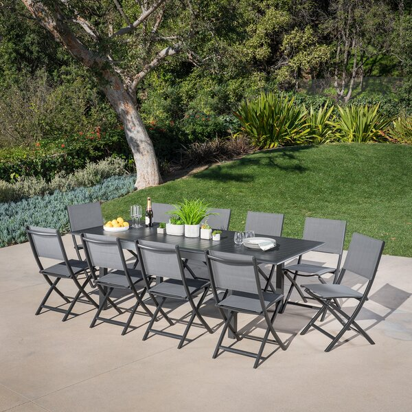 Bayshore 11 Piece Dining Set by Latitude Run