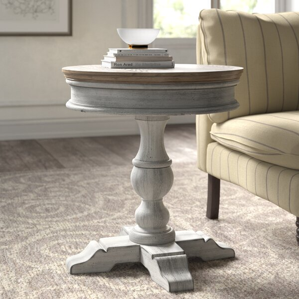 Marion Pedestal End Table By Kelly Clarkson Home