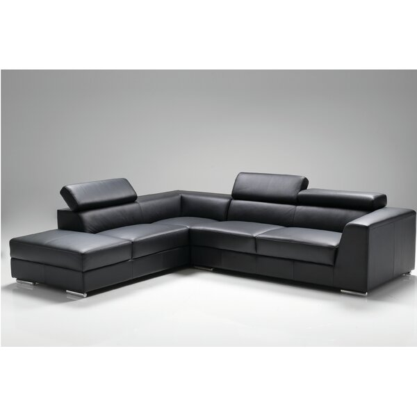 Cesca Leather Sectional by Orren Ellis