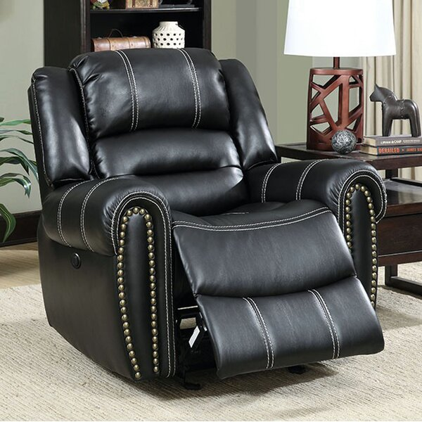 Aren Leather Manual Motion Recliner by Darby Home Co
