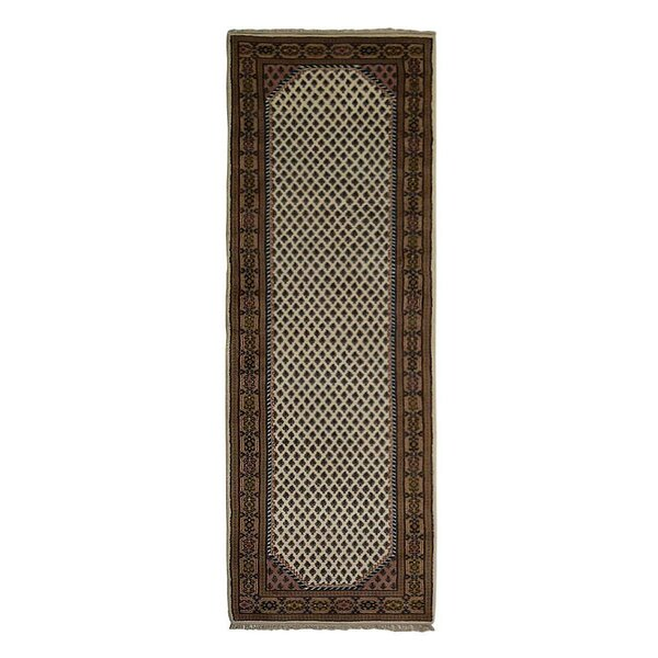 Rackers Hand-Knotted Wool Brown/Beige Area Rug by World Menagerie