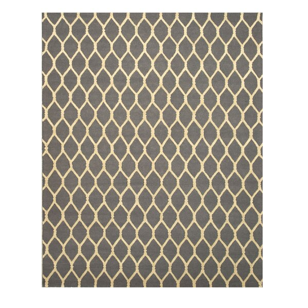 Hand-Tufted Gray Area Rug by Meridian Rugmakers