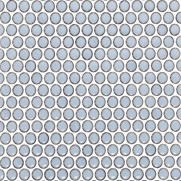 Bliss 0.75 x 0.75 Ceramic Mosaic Tile in Gray by Splashback Tile