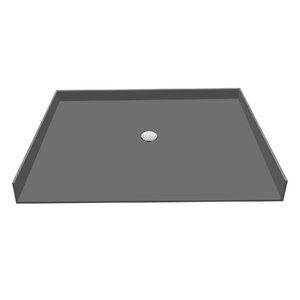 Triple Threshold Shower Base with Drain Plate