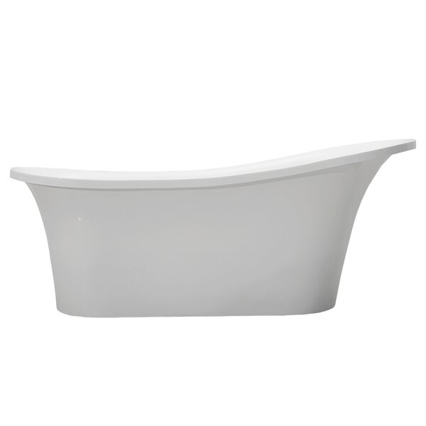 Sicily 66 x 29 Freestanding Soaking Bathtub by Vinnova
