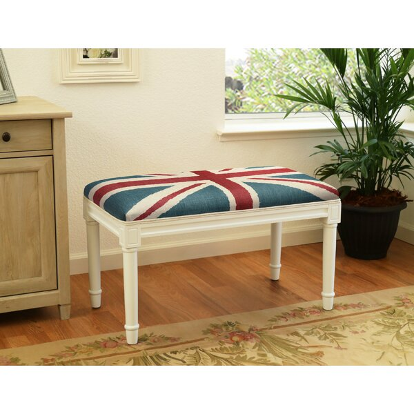 Ranieri Britannia Wood Bench by Charlton Home