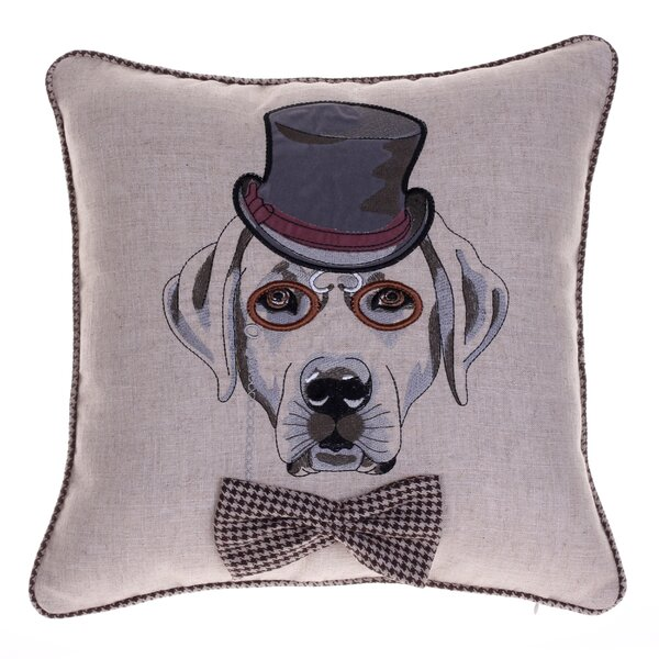 Distinguished Dog Pillow Walter Beckingdale Throw Pillow by 14 Karat Home Inc.