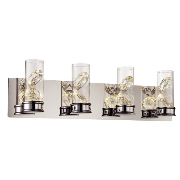 Walpole 4-Light Bath Bar by Bungalow Rose