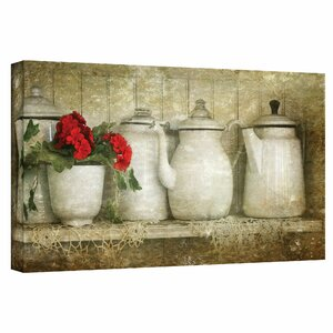 Flower with Pots by Antonio Raggio Framed Photo Graphic Print on Canvas by August Grove
