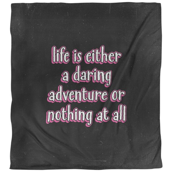 Quotes Life Adventure Single Reversible Duvet Cover