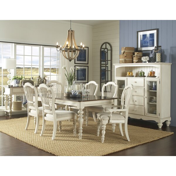 Alise 7 Piece Extendable Solid Wood Dining Set by Lark Manor