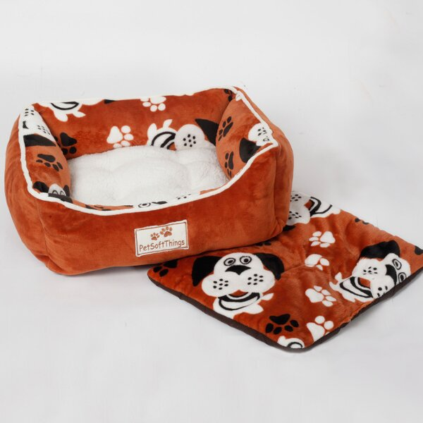 Dog Head Pet Bed with Removable Pillows by Pet Soft Things