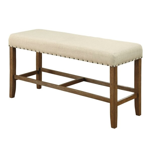 Adalard Counter Height Wood Dining Bench by Darby Home Co