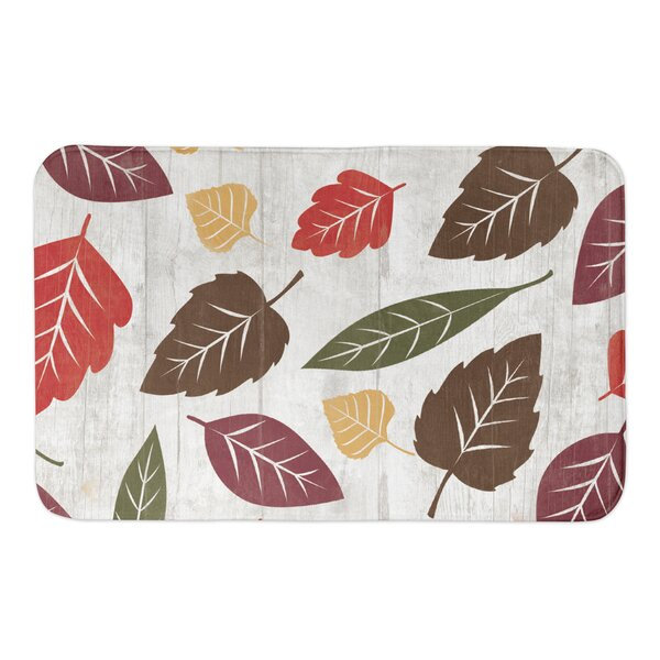 Schuster Fall Leaves Bath Rug by Loon Peak