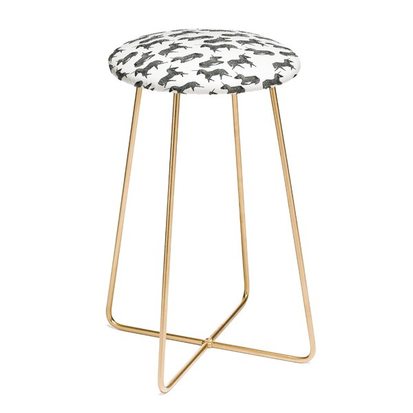 Dash and Ash Sleepy Unicorn 25 Bar Stool by East Urban Home