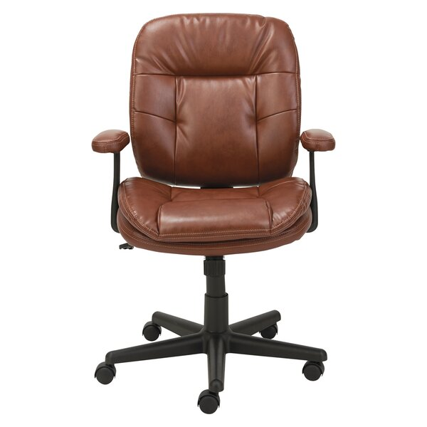 High-Back Leather Desk Chair by Oif