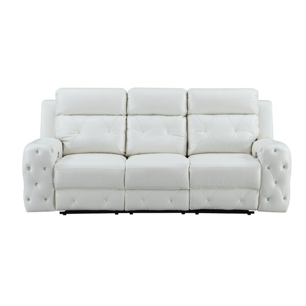 Leffler Jewel Embellished Power Reclining Sofa by Mercer41