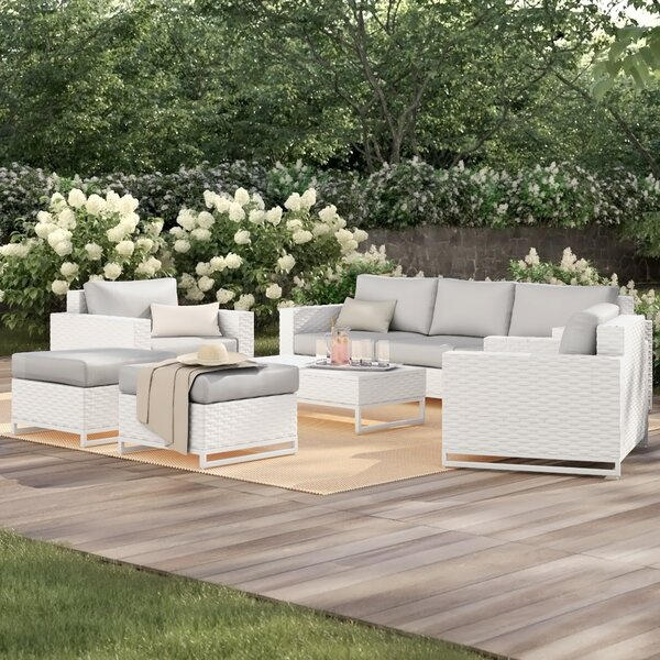 Menifee 8 Piece Multiple Chairs Seating Group with Cushions by Sol 72 Outdoor