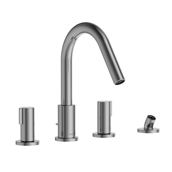 Double Handle Deck Mounted Roman Tub Faucet Trim By Toto