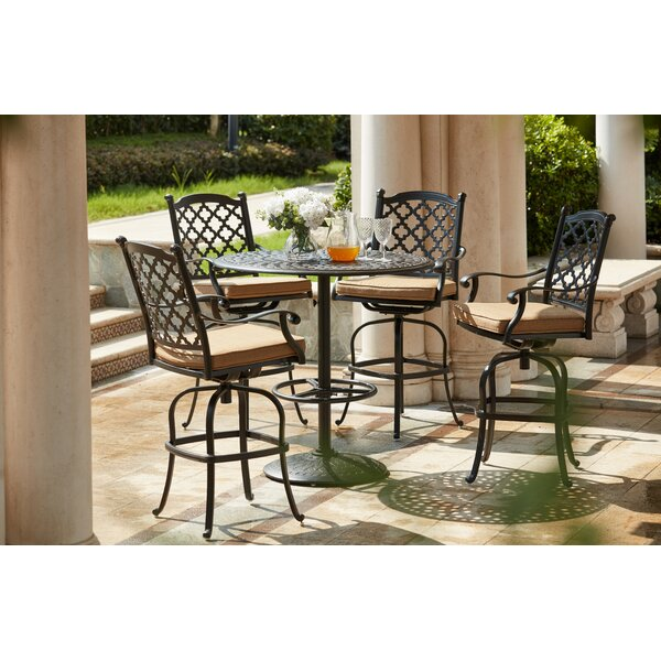 Waconia 5 Piece Bar Height Dining Set with Cushions by Darby Home Co